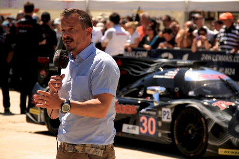 Neil Cole - Le Mans presenter for Eurosport